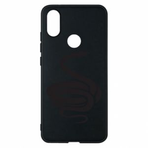 Phone case for Xiaomi Mi A2 Black rattlesnake - PrintSalon