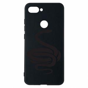 Phone case for Xiaomi Mi8 Lite Black rattlesnake - PrintSalon