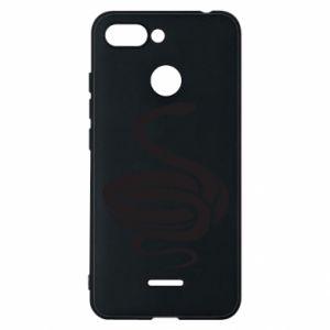 Phone case for Xiaomi Redmi 6 Black rattlesnake - PrintSalon