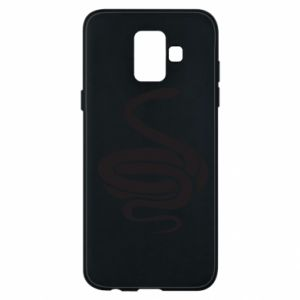 Phone case for Samsung A6 2018 Black rattlesnake - PrintSalon