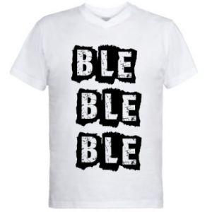 Męska koszulka V-neck Ble...