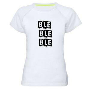 Damska koszulka sportowa Ble...