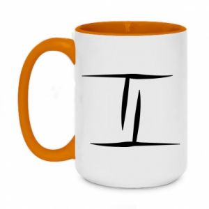 Two-toned mug 450ml Twins