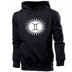 "Men's hoodie Print with an inscription ""Twins"""
