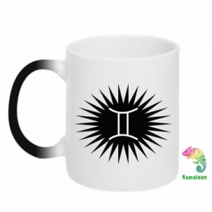 """Chameleon mugs Print with an inscription """"Twins"""""""