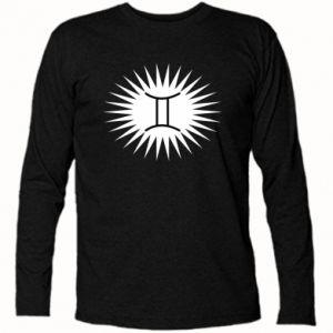 """Koszulka z długim rękawem Nadruk z napisem """"Twins"""" - PrintSalon"""