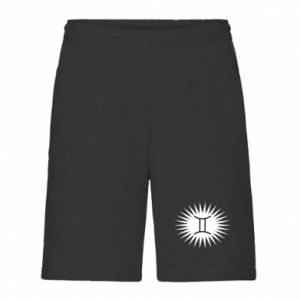 "Men's shorts Print with an inscription ""Twins"""