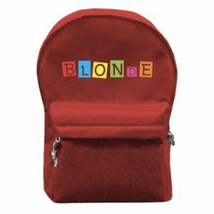 Backpack with front pocket Blonde