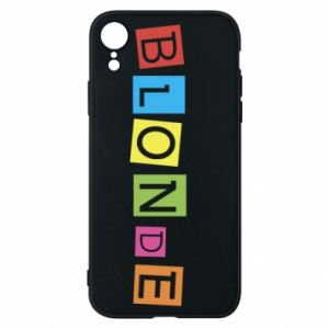 Phone case for iPhone XR Blonde