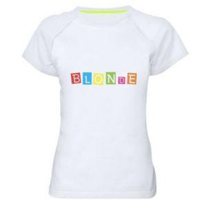 Women's sports t-shirt Blonde