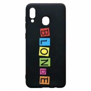 Phone case for Samsung A20 Blonde