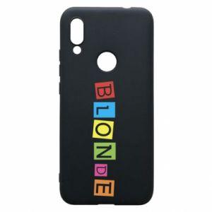Phone case for Xiaomi Redmi 7 Blonde