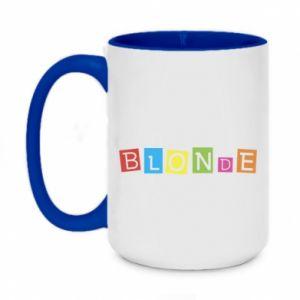 Two-toned mug 450ml Blonde