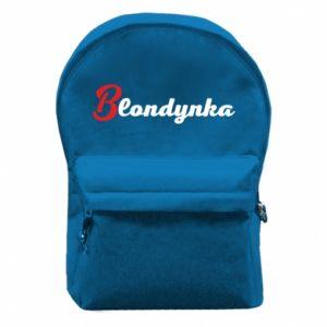 Plecak z przednią kieszenią Blondynka