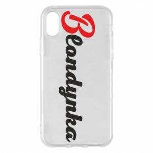 Phone case for iPhone X/Xs Inscription: Blonde