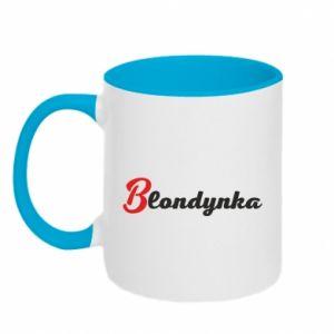 Two-toned mug Inscription: Blonde