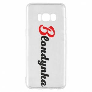 Phone case for Samsung S8 Inscription: Blonde