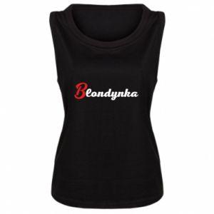 Women's t-shirt Inscription: Blonde - PrintSalon