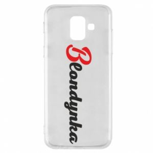 Phone case for Samsung A6 2018 Inscription: Blonde