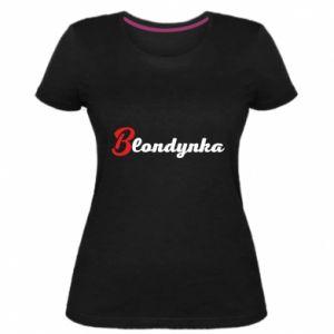 Women's premium t-shirt Inscription: Blonde - PrintSalon