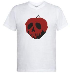 Męska koszulka V-neck Bloody apple