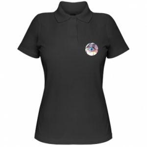 Women's Polo shirt Blue eye - PrintSalon