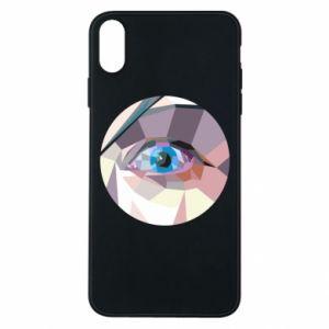 Phone case for iPhone Xs Max Blue eye - PrintSalon
