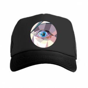 Trucker hat Blue eye - PrintSalon