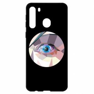 Etui na Samsung A21 Blue eye
