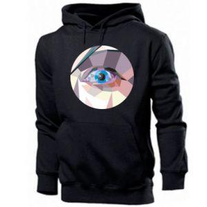 Men's hoodie Blue eye - PrintSalon