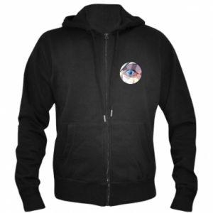 Men's zip up hoodie Blue eye - PrintSalon