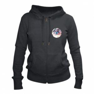 Women's zip up hoodies Blue eye - PrintSalon