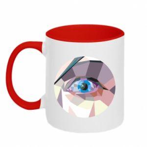 Two-toned mug Blue eye - PrintSalon