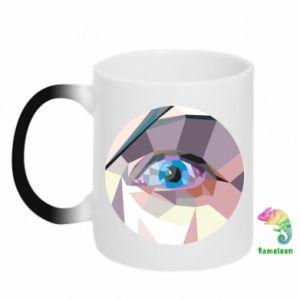Chameleon mugs Blue eye - PrintSalon