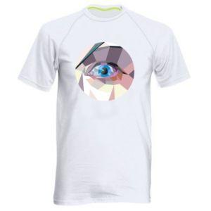 Men's sports t-shirt Blue eye - PrintSalon