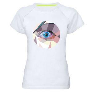 Women's sports t-shirt Blue eye - PrintSalon