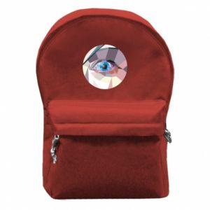 Backpack with front pocket Blue eye - PrintSalon