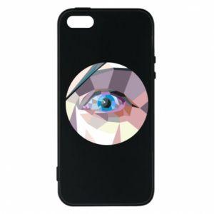 Phone case for iPhone 5/5S/SE Blue eye - PrintSalon
