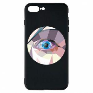 Phone case for iPhone 8 Plus Blue eye - PrintSalon