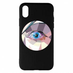Etui na iPhone X/Xs Blue eye