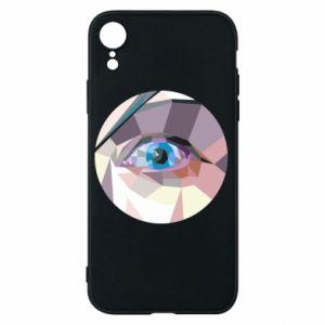 Etui na iPhone XR Blue eye