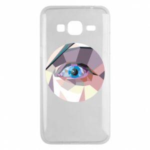 Etui na Samsung J3 2016 Blue eye
