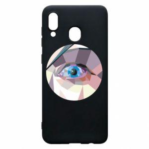 Etui na Samsung A20 Blue eye