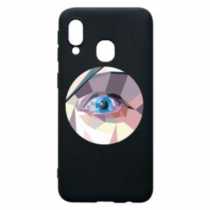 Etui na Samsung A40 Blue eye