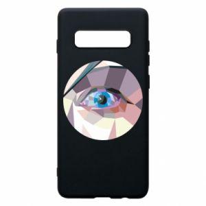 Phone case for Samsung S10+ Blue eye - PrintSalon