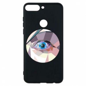 Phone case for Huawei Y7 Prime 2018 Blue eye - PrintSalon
