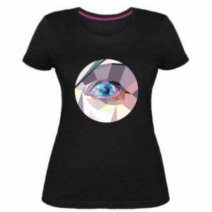 Women's premium t-shirt Blue eye - PrintSalon