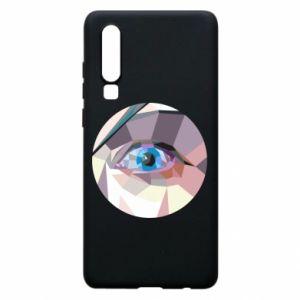 Phone case for Huawei P30 Blue eye - PrintSalon