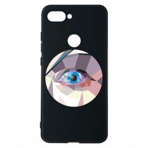 Phone case for Xiaomi Mi8 Lite Blue eye - PrintSalon
