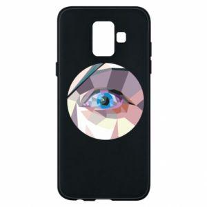 Phone case for Samsung A6 2018 Blue eye - PrintSalon